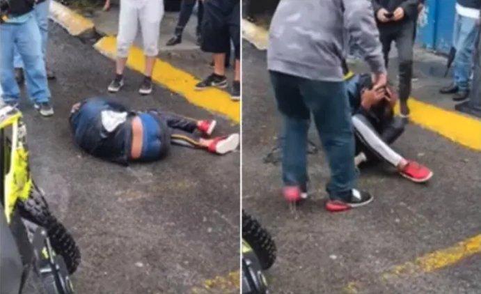 Video :Golpean a presunto ladrón hasta hacerlo llorar en Cuautitlán