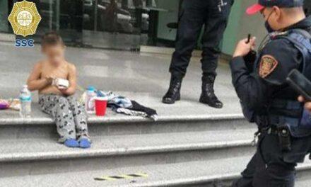 Policías de la CDMX localizan a niño extraviado