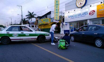Accidente de tránsito sobre la Avenida Principal de Las Trancas