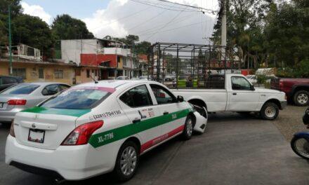 Choque en la avenida Rebsamen en Xalapa