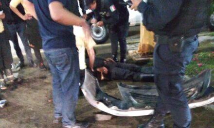 Motociclista lesionado en accidente de tránsito sobre la Avenida Rebsamen en Xalapa