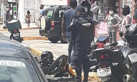 La mañana de este jueves, dos accidentes de tránsito en Xalapa, motociclistas involucrados