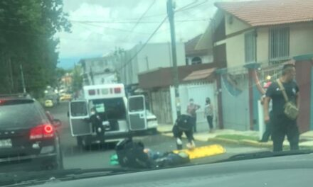 Motociclista lesionado en la avenida Villahermosa en Xalapa