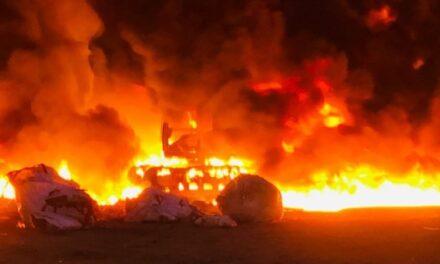 Se registra incendio en empresa industrial de Cosoleacaque
