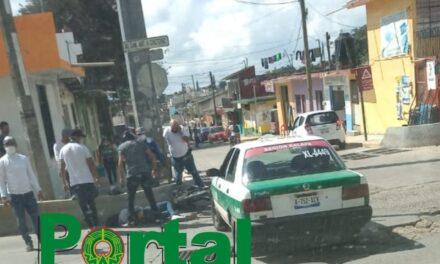 Motociclista lesionado en camino Antiguo a Naolinco en Xalapa