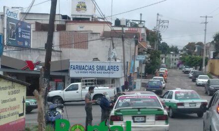 Choque en avenida Pípila esquina Norberto Martínez en Xalapa