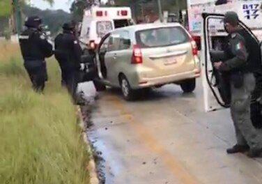 Accidente de tránsito en la carretera Xalapa – Coatepec, a la altura de Los Arenales