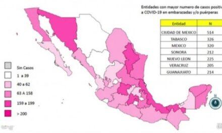 Veracruz ocupa sexto lugar nacional de mujeres embarazadas con Covid-19, 6 han muerto.