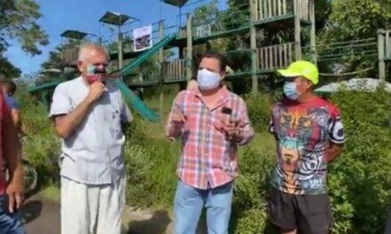 Vecinos del parque «La Loma» se oponen a construcción del cuartel de la Guardia Nacional, en Xalapa