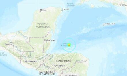 Se registra sismo de 5.7 grados de magnitud frente a las costas de Honduras, se pudo percibir en Quintana Roo