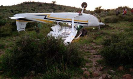 Se desplomó avioneta en la capital potosina