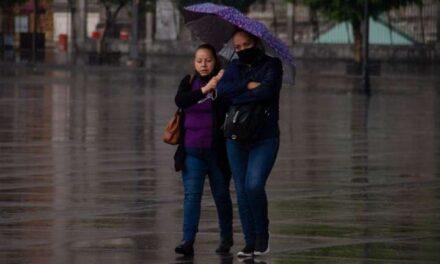 Lluvias fuertes en 5 estados; CDMX con posible granizada