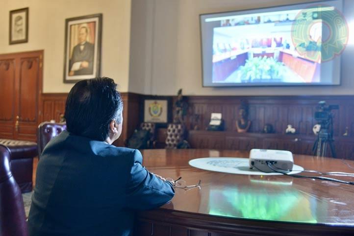 La Rectora reconoció el compromiso y voluntad del gobernador Cuitláhuac García de apoyar a su casa de estudios
