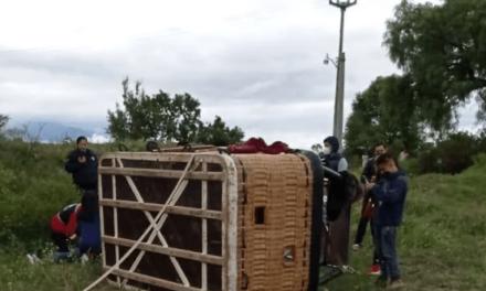 Globo aerostático se desploma en Teotihuacan, una niña lesionada
