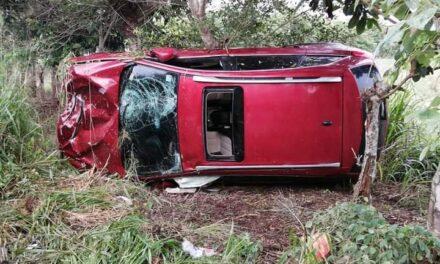 Fuerte accidente en la carretera Acayucan- Rodríguez, una persona perdió la vida