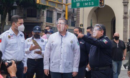 Supervisa Gutiérrez Maldonado operativo de seguridad y vialidad por fiestas patrias, en Xalapa
