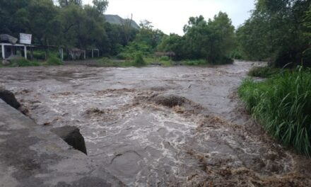 Río Actopan creciendo en la cabecera Municipal