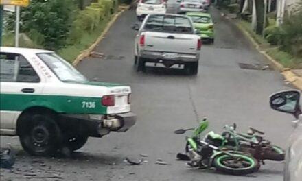 Motociclista lesionado en accidente de tránsito en la avenida Américas