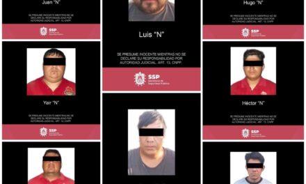 Registra SSP 8 detenciones por delitos contra la salud y portación de armas, en cuatro municipios