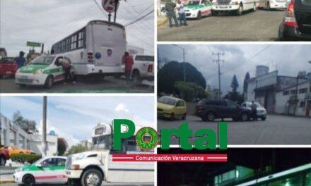 Ayer sábado se registraron varios accidentes de tránsito en Xalapa