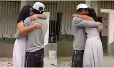 Video: Quinceañera sorprende a su papá albañil en su lugar de trabajo para bailar un vals