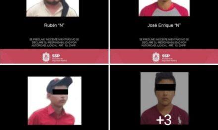 Asegura SSP armas de fuego, munición, dinero en efectivo y vehículos; 7 detenidos
