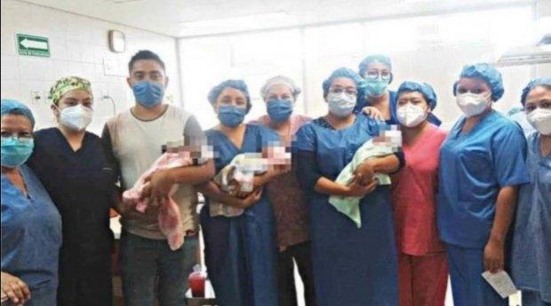 La Casa Asistencial Conecalli en Xalapa, Veracruz, recibió a las trillizas que hace poco más de un mes nacieron.