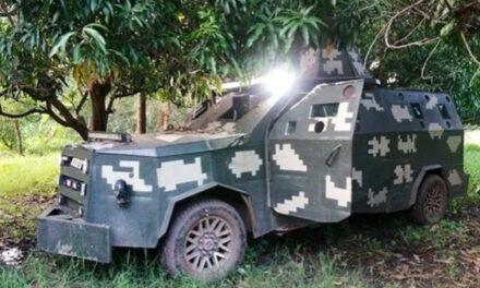 Tras enfrentamiento, Sedena y Guardia Nacional aseguran lanzagranadas y camionetas blindadas en Michoacán