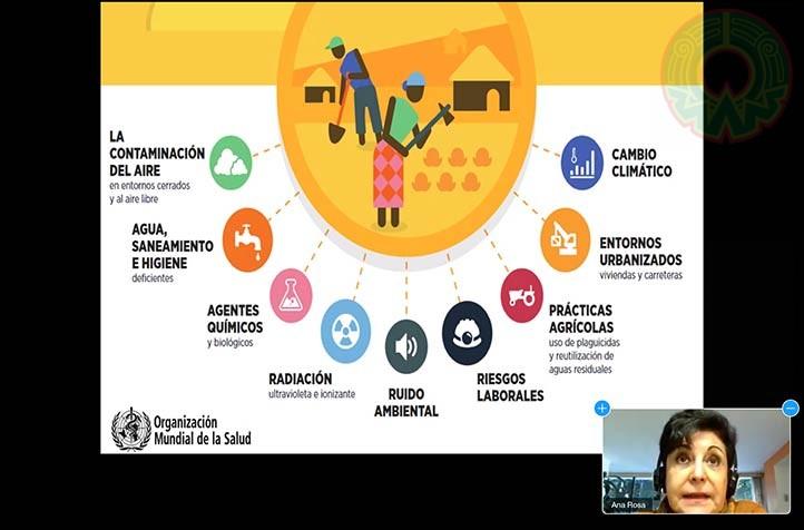 La investigadora explicó que son diversos factores los que afectan la salud pública a nivel mundial, además del cambio climático
