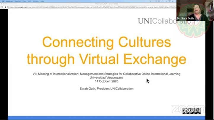 La profesora destacó los beneficios de este tipo de intercambio para propiciar el diálogo intercultural entre los participantes