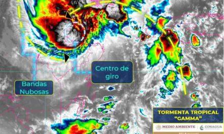 Alerta por tormenta tropical 'Gamma'; ocasiona lluvias torrenciales en Yucatán