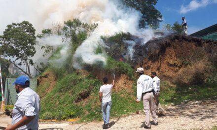 Se registra incendio en área verde en el Tecnológico de Xalapa