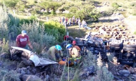 Vuelca tráiler de Grupo Modeloen la autopista Aguascalientes – León