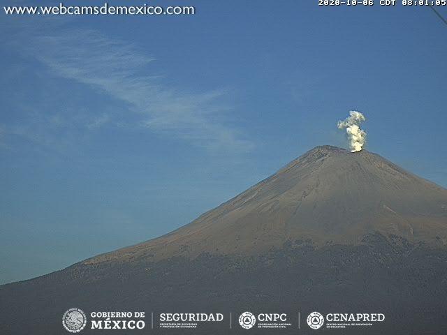 Popocatépetl 136 exhalaciones en las últimas horas