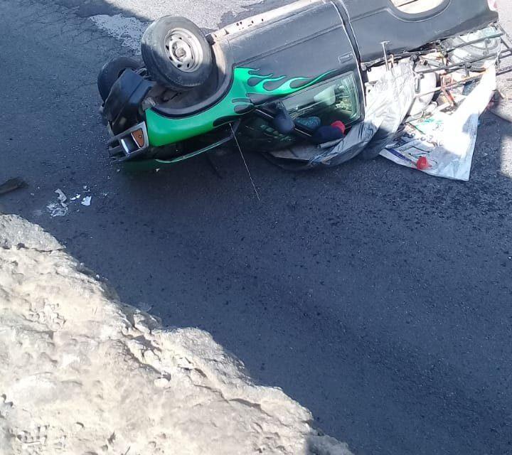 Video: Nuevamente cae vehículo de puente en la carretera Las Trancas – Coatepec, a la altura de La Pradera