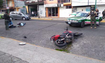 Video: Motociclista lesionado en accidente de tránsito sobre la avenida 20 de Noviembre en Xalapa