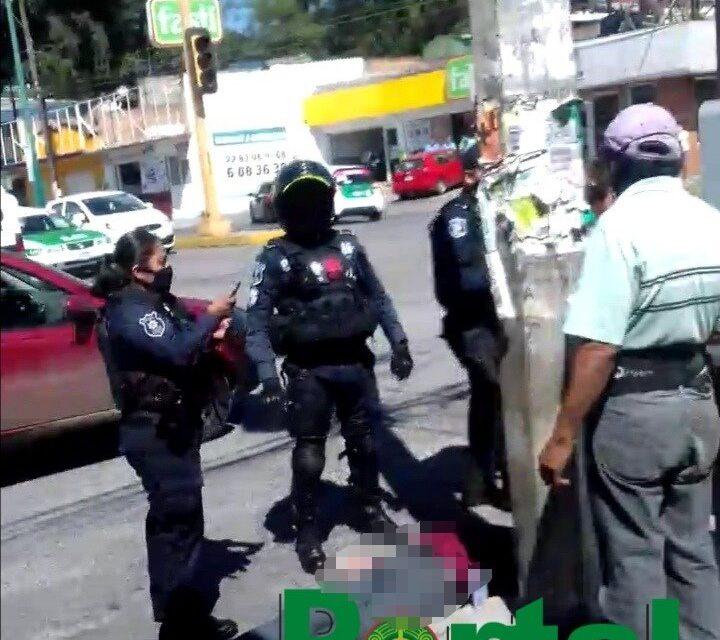 Fallece adulto mayor en la avenida 20 de Noviembre, a la altura de Crediland en Xalapa