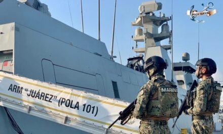 7 detenidos y 1,100 paquetes con cocaina fueron asegurados por la Marina durante operativo en manzanillo Colima a 240 km de la costa