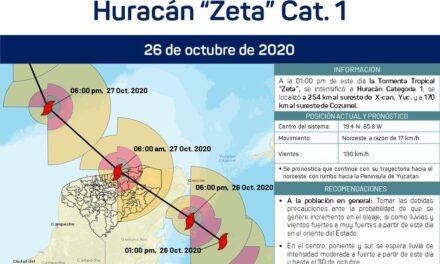 Suspenden clases en Yucatán por huracán 'Zeta'