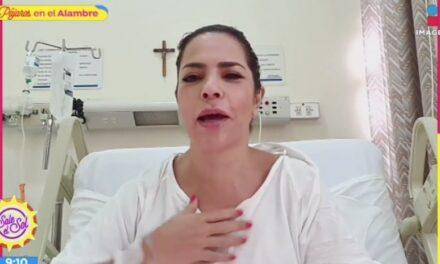 """""""Sí da miedo"""": periodista Ana María Alvarado cuenta desde el hospital cómo enfrenta el COVID"""