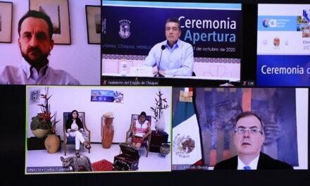 Marcelo Ebrard inauguran el Common Action Forum Chiapas 2020
