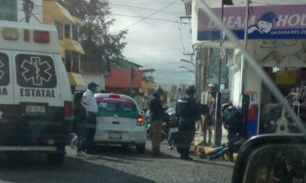 Motociclista lesionado en la avenida Lázaro Cárdenas en Xalapa