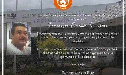 Fallece un trabajador más que hacía frente al covid-19 en el de CAEXalapa