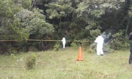 Encuentran cuerpo putrefacto en predio entre las localidades Cerro de las Iguanas-Morelos en San Andrés Tuxtla