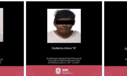 Detiene SSP a tres presuntos responsables de agresión a policías y homicidio, en Sayula de Alemán