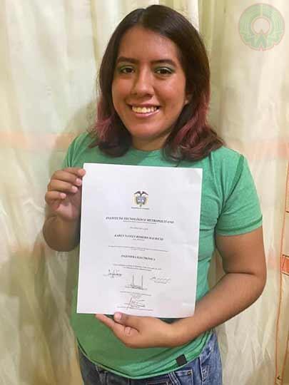 Karen Nayely Romero destacó que además de la doble titulación, la experiencia de movilidad es una de las mejores para los estudiantes