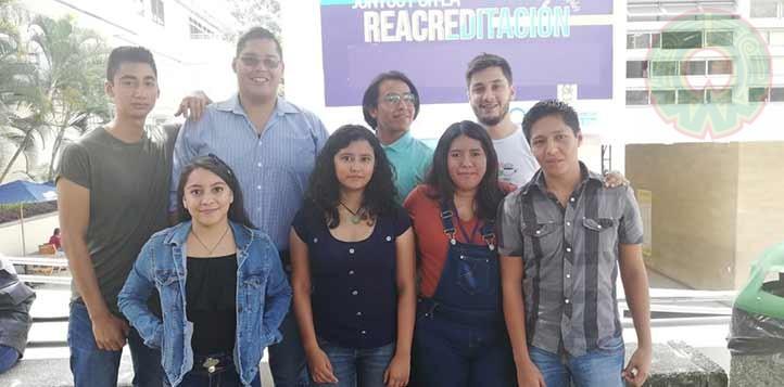 La joven viajó a Medellín, Colombia, con dos compañeros de la UV para cursar un año en el ITM