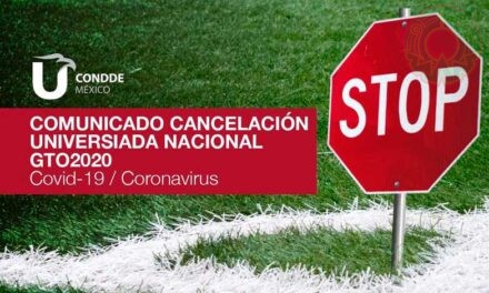 Condde cancela oficialmente la Universiada Nacional 2020