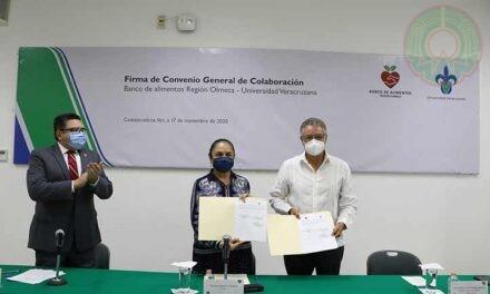 UV firmó convenio con el Banco de Alimentos Olmeca