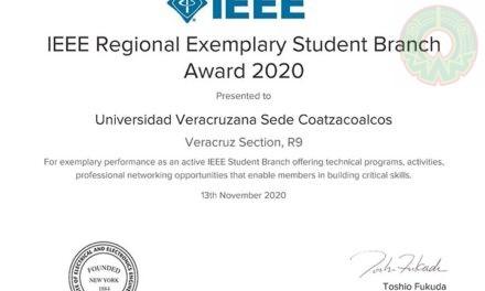 Rama Estudiantil UV Coatzacoalcos ganó premio del IEEE
